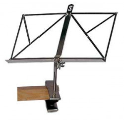 Metallic music stand with...