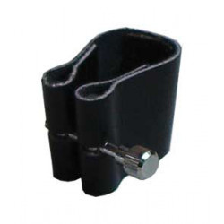 Leather clarinet clamp