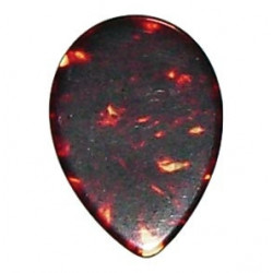 Small celluloid pick, oval...