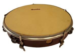 Tunable calfskin tambourines